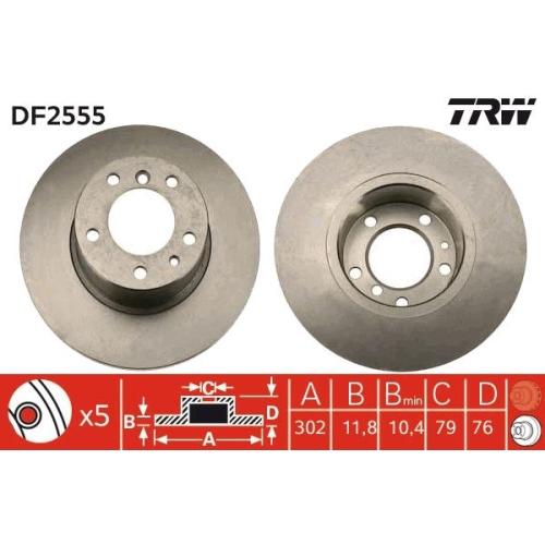 Brake Disc TRW DF2555 BMW