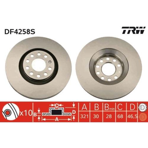 TRW Brake Disc DF4258S