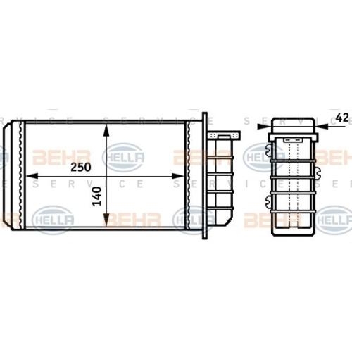 Wärmetauscher, Innenraumheizung HELLA 8FH 351 313-191 ALFA ROMEO FIAT