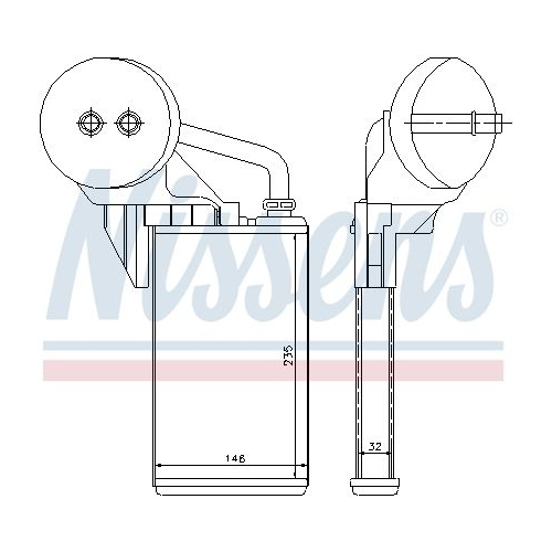 Heat Exchanger, interior heating NISSENS 72207 NISSAN OPEL RENAULT VAUXHALL