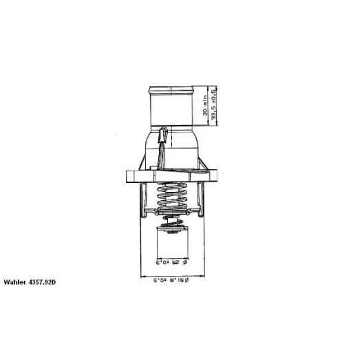 WAHLER Thermostat 4357.92D