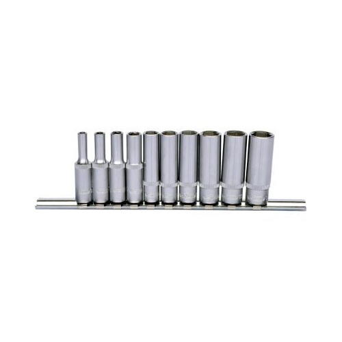 KS TOOLS 1/4 Zoll CLASSIC Sechskant-Stecknuss-Satz, lang, 10-tlg. 4-13mm 917.0610