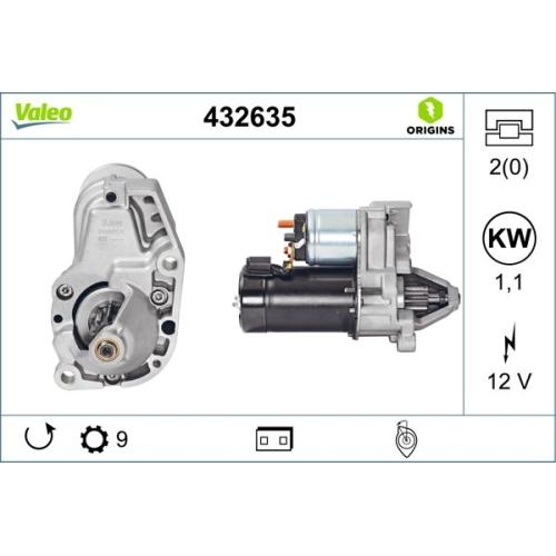 Starter VALEO 432635 VALEO ORIGINS NEW
