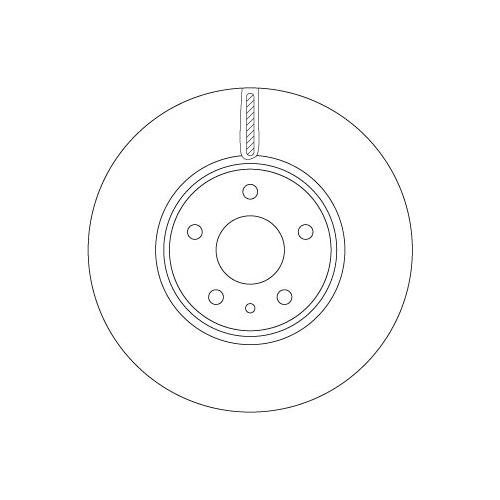 Brake Disc TRW DF6811 FORD
