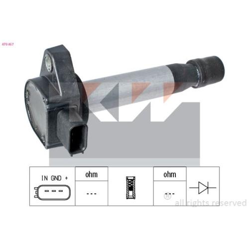 Zündspule KW 470 457 Made in Italy - OE Equivalent HONDA HITACHI