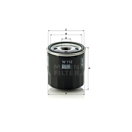 Mann Oil Filter Filtration System Spare Replacement Part For Bedford Blitz