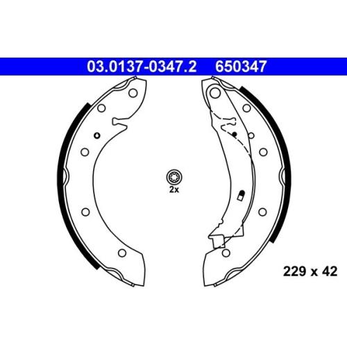 Bremsbackensatz ATE 03.0137-0347.2 PEUGEOT RENAULT