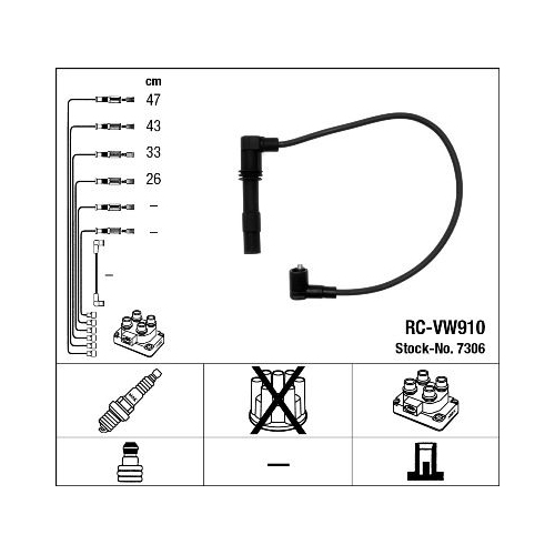 Ignition Cable Kit NGK 7306