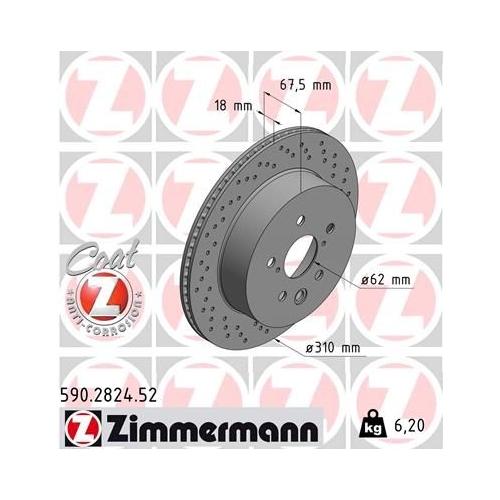 ZIMMERMANN Brake Disc 590.2824.52