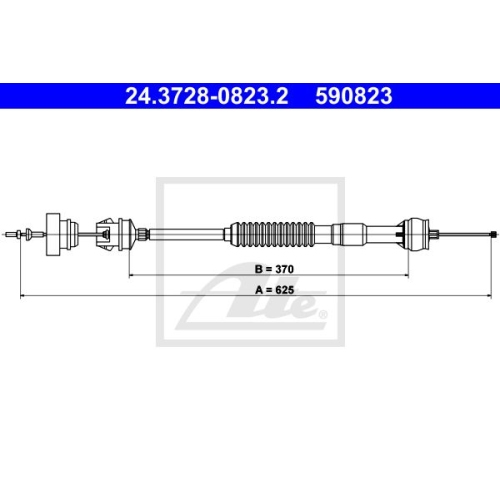 Clutch Cable ATE 24.3728-0823.2 PEUGEOT