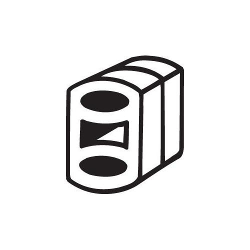 Gummistreifen, Abgasanlage BOSAL 255-095 ALFA ROMEO FIAT OPEL SAAB