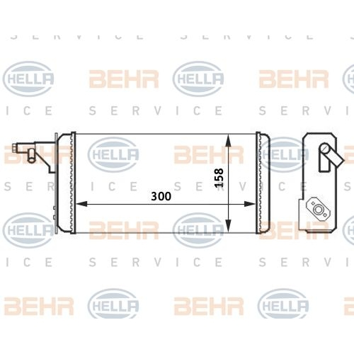 Heat Exchanger, interior heating HELLA 8FH 351 024-251 IVECO