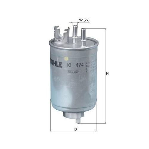 Kraftstofffilter MAHLE KL 474 FIAT