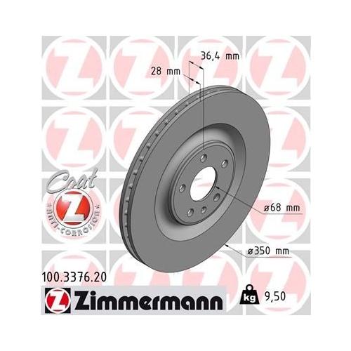 ZIMMERMANN Brake Disc 100.3376.20
