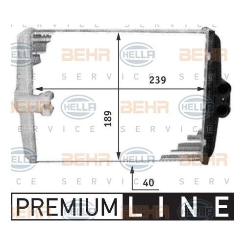 Heat Exchanger, interior heating HELLA 8FH 351 311-761 MERCEDES-BENZ