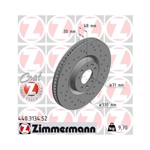 ZIMMERMANN Brake Disc 440.3134.52