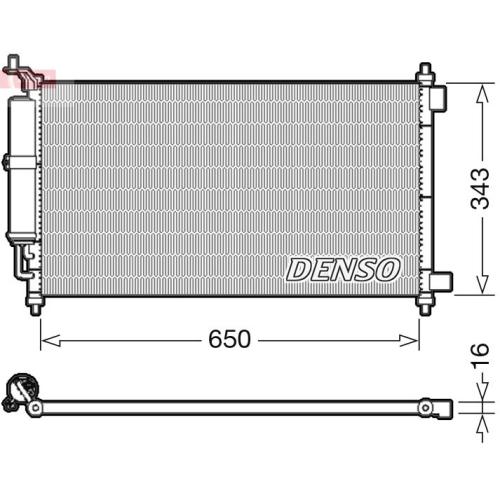 Kondensator, Klimaanlage DENSO DCN46020 NISSAN