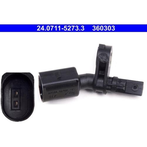 Sensor, Raddrehzahl ATE 24.0711-5273.3 SEAT SKODA VAG