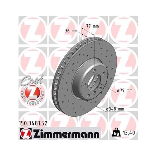 ZIMMERMANN Brake Disc 150.3481.52