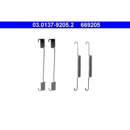 Zubehörsatz, Bremsbacken ATE 03.0137-9205.2