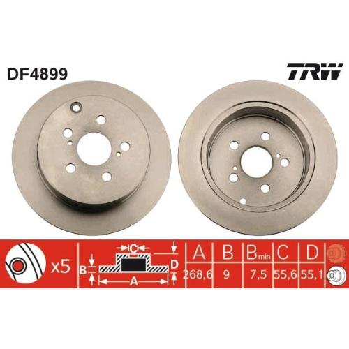 Brake Disc TRW DF4899 TOYOTA