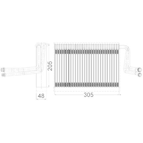 Evaporator, air conditioning MAHLE AE 113 000S BMW BMW (BRILLIANCE)