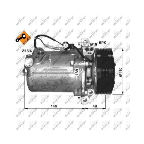 Kompressor, Klimaanlage NRF 32414 EASY FIT BMW