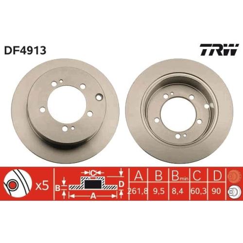 Brake Disc TRW DF4913 MITSUBISHI
