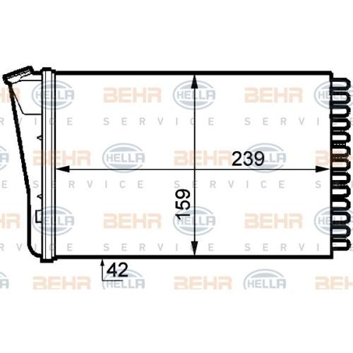 Heat Exchanger, interior heating HELLA 8FH 351 313-291 OPEL VAUXHALL