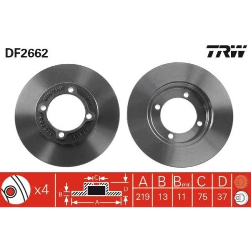 TRW Brake Disc DF2662