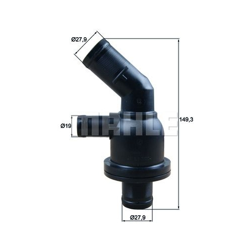 Thermostat, coolant MAHLE TH 55 87 RENAULT SMART