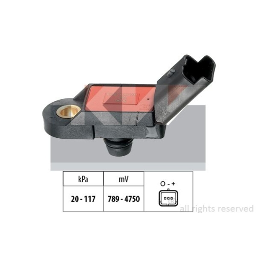 Pressure Sensor, brake booster KW 493 056 Made in Italy - OE Equivalent RENAULT