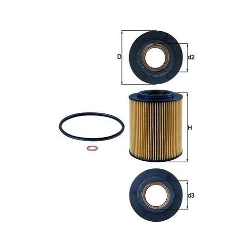 Ölfilter MAHLE OX 154/1D BMW