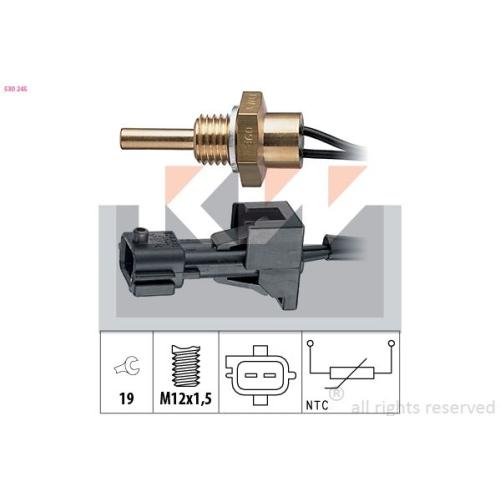 Sensor, Kühlmitteltemperatur KW 530 245 Made in Italy - OE Equivalent SAAB