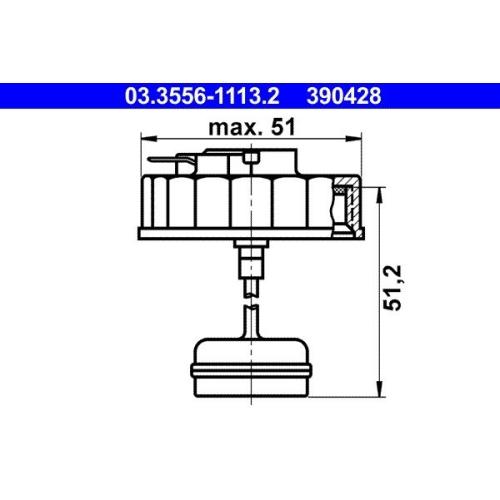 Verschluss, Bremsflüssigkeitsbehälter ATE 03.3556-1113.2 BMW MERCEDES-BENZ OPEL