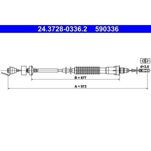 ATE Seilzug, Kupplungsbetätigung 24.3728-0336.2