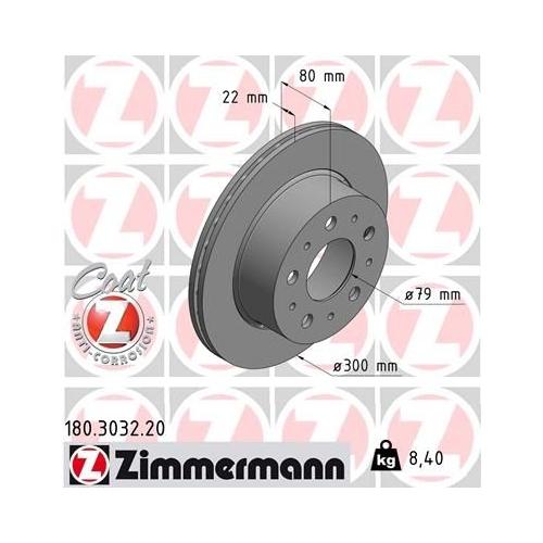 ZIMMERMANN Brake Disc 180.3032.20