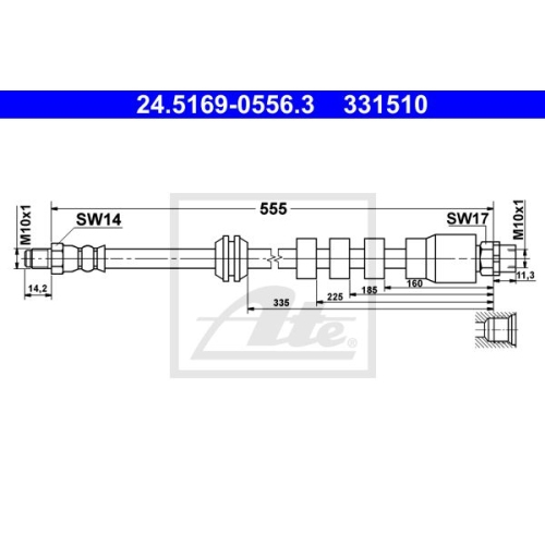 Brake Hose ATE 24.5169-0556.3 BMW