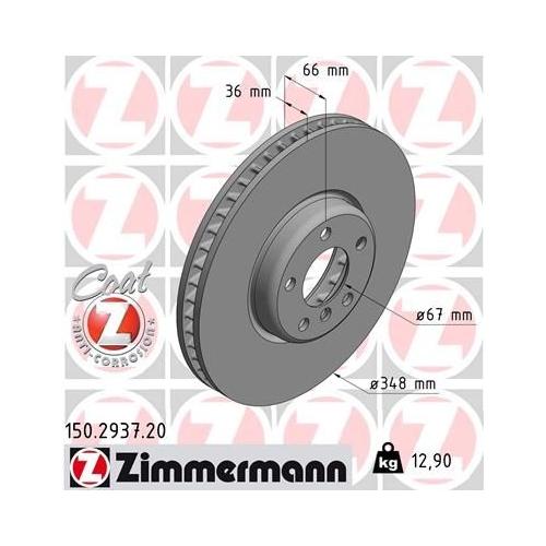 ZIMMERMANN Brake Disc 150.2937.20