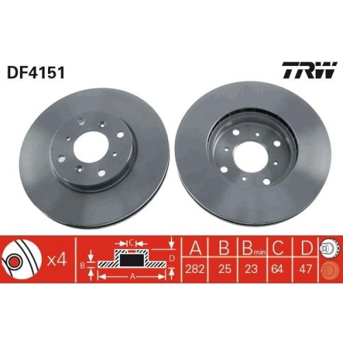 TRW Brake Disc DF4151