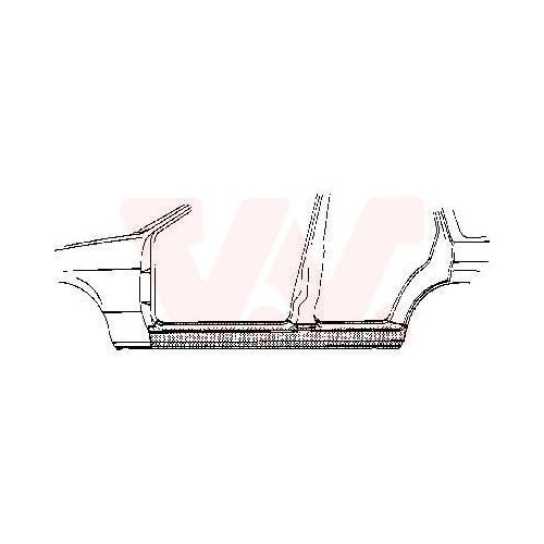 Foot Board, door sill VAN WEZEL 3763104