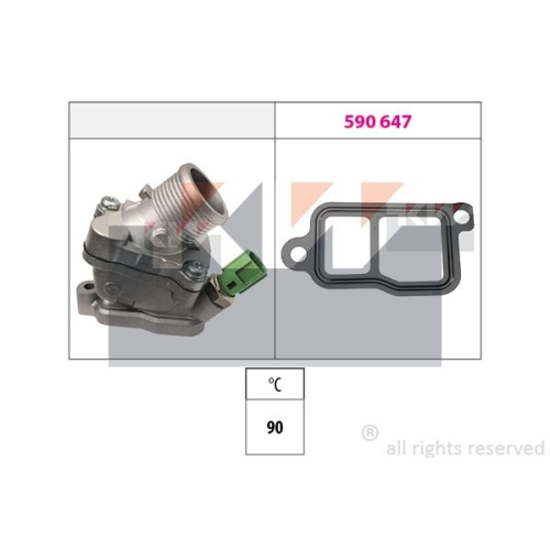 Thermostat, coolant KW 580 606 Made in Italy - OE Equivalent VOLVO