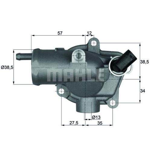 BEHR THERMOT-TRONIK Thermostat, Kühlmittel TI 27 92