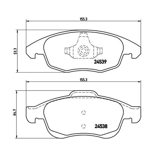 Brake Pad Set, disc brake BREMBO P 61 083 CITROËN PEUGEOT DS