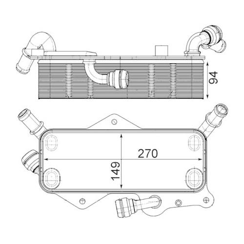 Oil Cooler, automatic transmission MAHLE CLC 218 000P BEHR *** PREMIUM LINE ***