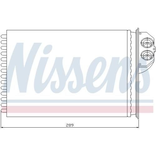 Heat Exchanger, interior heating NISSENS 72943 PEUGEOT
