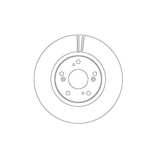 Brake Disc TRW DF6689 HONDA