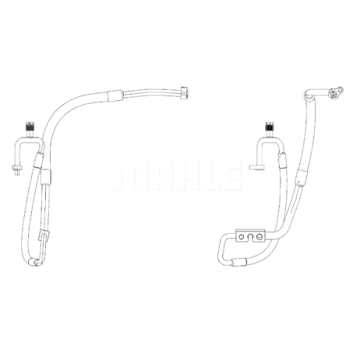 High-/Low Pressure Line, air conditioning MAHLE AP 114 000P FORD