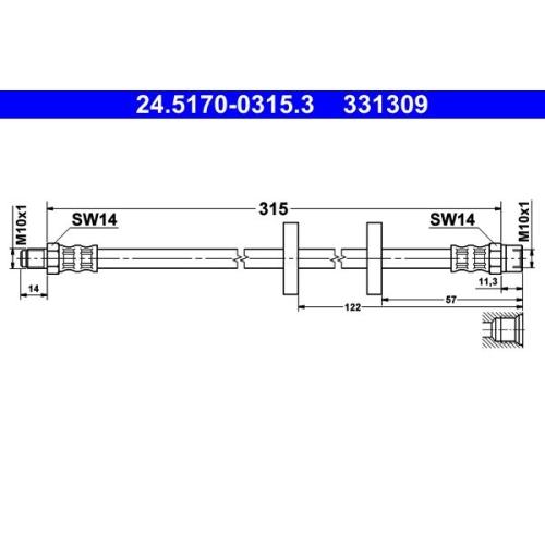 ATE Bremsschlauch 24.5170-0315.3