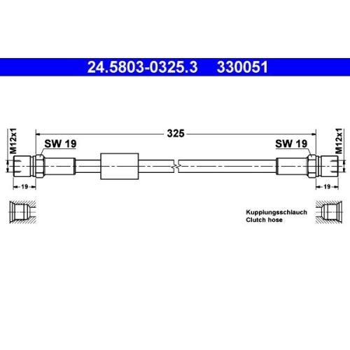 Kupplungsschlauch ATE 24.5803-0325.3 VAG